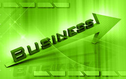 Business graph. Digital illustration of Business graph in 3d on colour background vector illustration