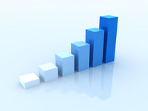 Business Graph. On blue background Royalty Free Stock Image