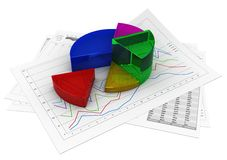 Business graph Stock Photos