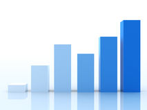 Business Graph. On blue background Stock Photo