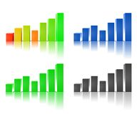 Business graph. Four colorful 3D business graphs Royalty Free Stock Image