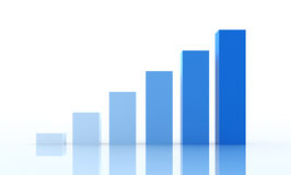 Business Graph. On blue background Stock Photography