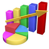 Business Graph. Colorful Business Graph of growing up arrow Royalty Free Stock Photography