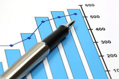 Business graph. Of financial analytics Royalty Free Stock Photos