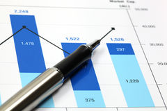 Business graph. Of financial analytics Stock Image