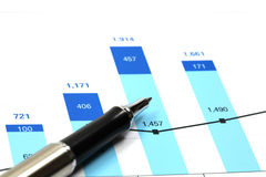 Business graph. Of financial analytics Stock Photos
