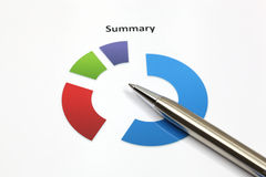 Business graph. Analysis report with pen Royalty Free Stock Photography