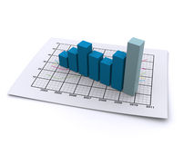 Business graph 3d Royalty Free Stock Photos