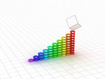 Business graph. 3D image. Business graph. 3d rendered concept.  on white Stock Images