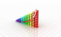 Business graph. 3D image. Royalty Free Stock Image