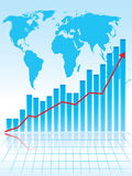 Business graph. World business graph. More in my portfolio Stock Image
