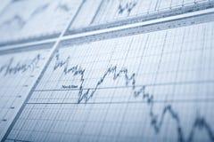 Business graph. Analyze.money line stock photography