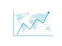Business Graph. With arrow showing profits and gains Royalty Free Stock Photo