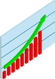 Business Graph. With Arrow Showing to Up Stock Images