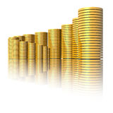 Business graph. (high resolution 3D image Stock Photos