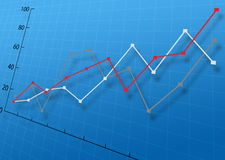 Business Graph. On blue background Royalty Free Illustration