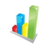 Business graph. Color business graph in vector formt with stars and blinks Stock Images