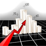 Business Graph. Vector illustration representing white business graph and red arrow Royalty Free Stock Photo
