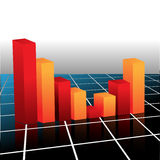 Business Graph. Vector illustration of business graph Royalty Free Stock Photography