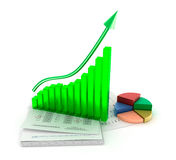 Business graph analysis Stock Image
