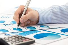 Business graph analysis report Stock Images