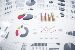 Business graph analysis report Royalty Free Stock Image