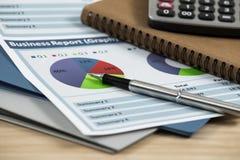 Business graph analysis report Stock Photos