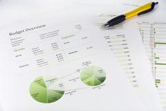 Business graph analysis Stock Photo