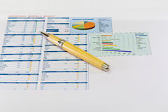 Business graph analysis report Stock Image