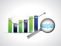 Business graph analytics illustration design Royalty Free Stock Photography
