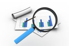 Business graph analyzing Stock Images