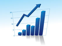 Business graph with arrow Royalty Free Stock Images