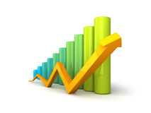 Business graph with arrow Stock Photo