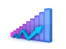 Business graph with arrow Royalty Free Stock Photography