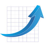 Business graph with arrow Royalty Free Stock Image
