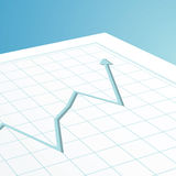 Business graph arrow Stock Photography