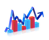 Business Graph with arrow Stock Images
