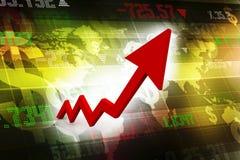 Business graph, arrow,  business growth concept, 3d rendering. Business graph, arrow 3d rendering, business growth concept, 3d rendering Royalty Free Stock Photos