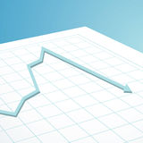 Business graph arrow down Stock Images