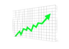 Business graph arrow green Stock Photos