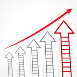Business graph of arrow ladder Royalty Free Stock Image