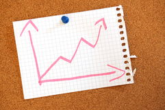 Business graph with arrow showing growth Royalty Free Stock Photography