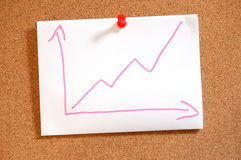 Business graph with arrow showing growth Royalty Free Stock Image