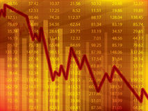 Business graph with arrow showing loss and crisis on the stock exchange. Business graph with arrow showing loss and crisis financial on the stock exchange Stock Photo