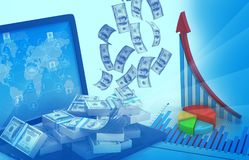 Business graph background Royalty Free Stock Images