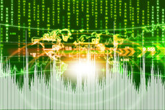 Business graph background Stock Image