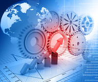 Business graph. Background with gears Stock Images