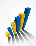 Business Graph bar 3D Stock Photography