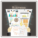 Business graph black  investment map usa money report vector Royalty Free Stock Photography