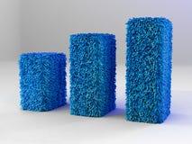 Business Graph Blue Carpet Royalty Free Stock Photos